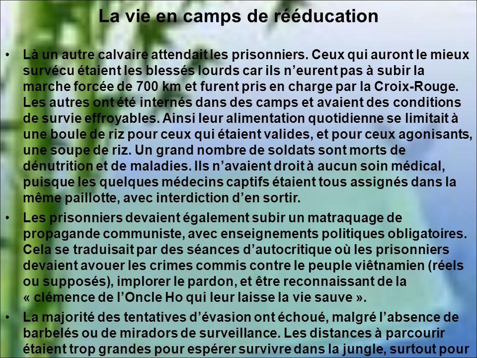 La vie en camps de rééducation