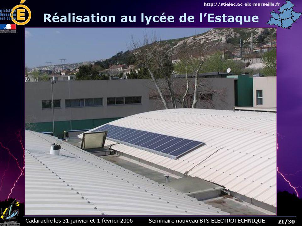 Réalisation au lycée de l'Estaque