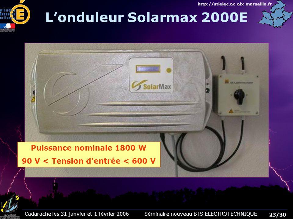 90 V < Tension d'entrée < 600 V
