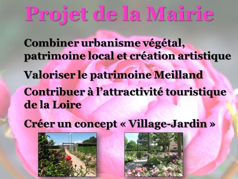 Projet de la Mairie Combiner urbanisme végétal, patrimoine local et création artistique. Valoriser le patrimoine Meilland.