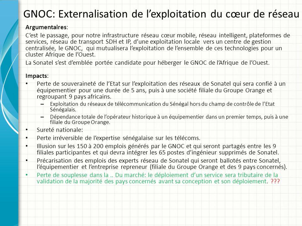 GNOC: Externalisation de l'exploitation du cœur de réseau