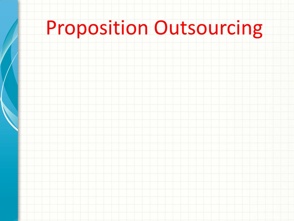 Proposition Outsourcing