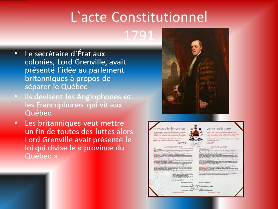 L`acte Constitutionnel 1791