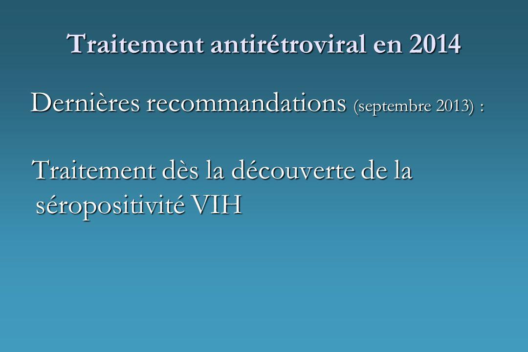 Traitement antirétroviral en 2014