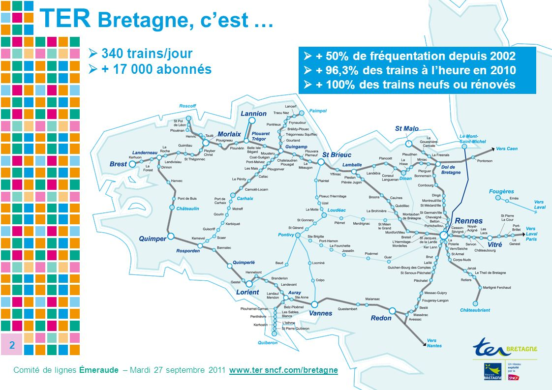 TER Bretagne, c'est …  340 trains/jour  + 17 000 abonnés