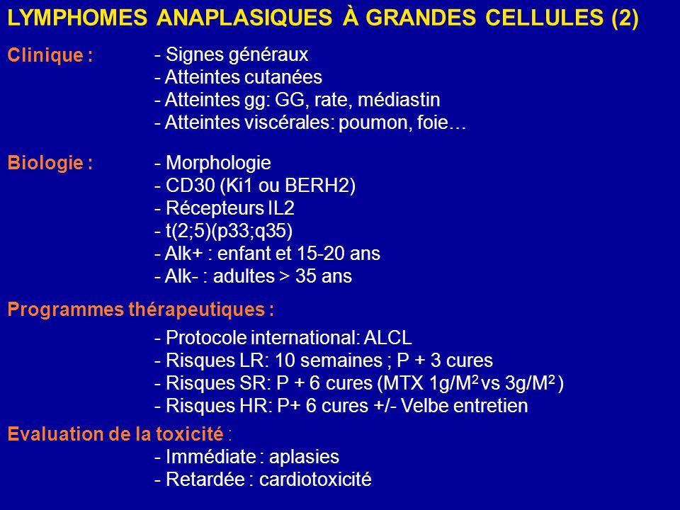 LYMPHOMES ANAPLASIQUES À GRANDES CELLULES (2)