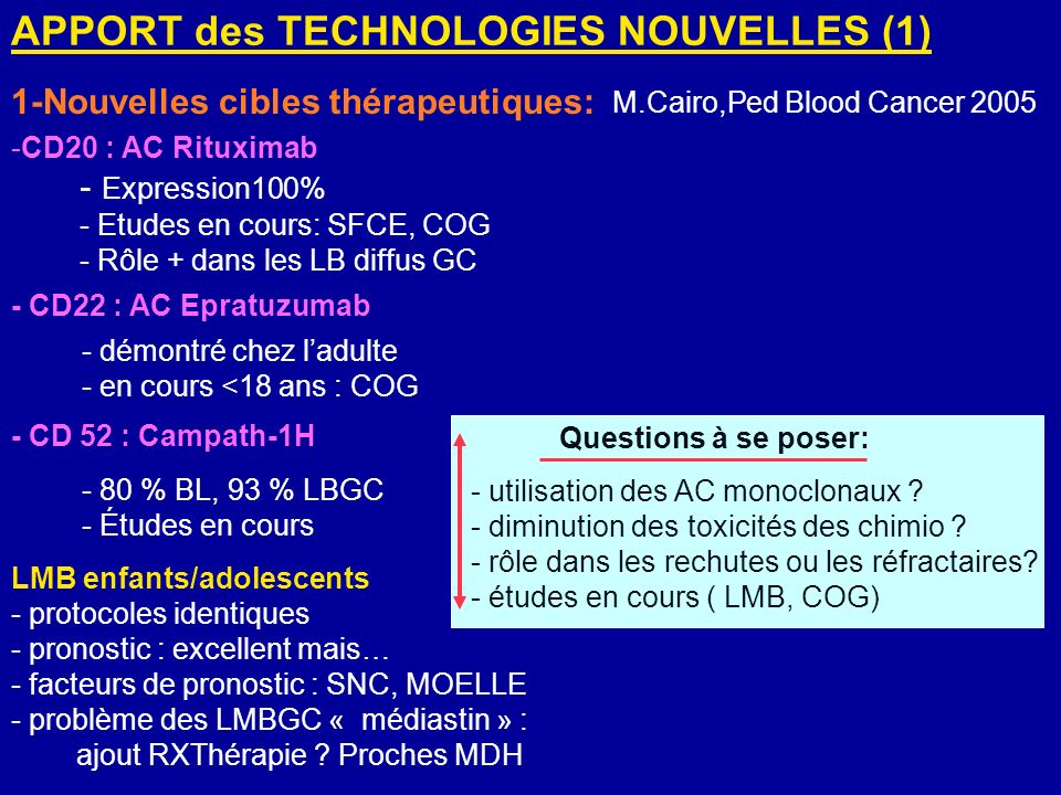 APPORT des TECHNOLOGIES NOUVELLES (1)
