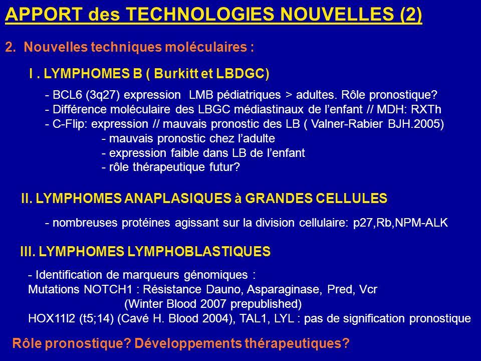 APPORT des TECHNOLOGIES NOUVELLES (2)