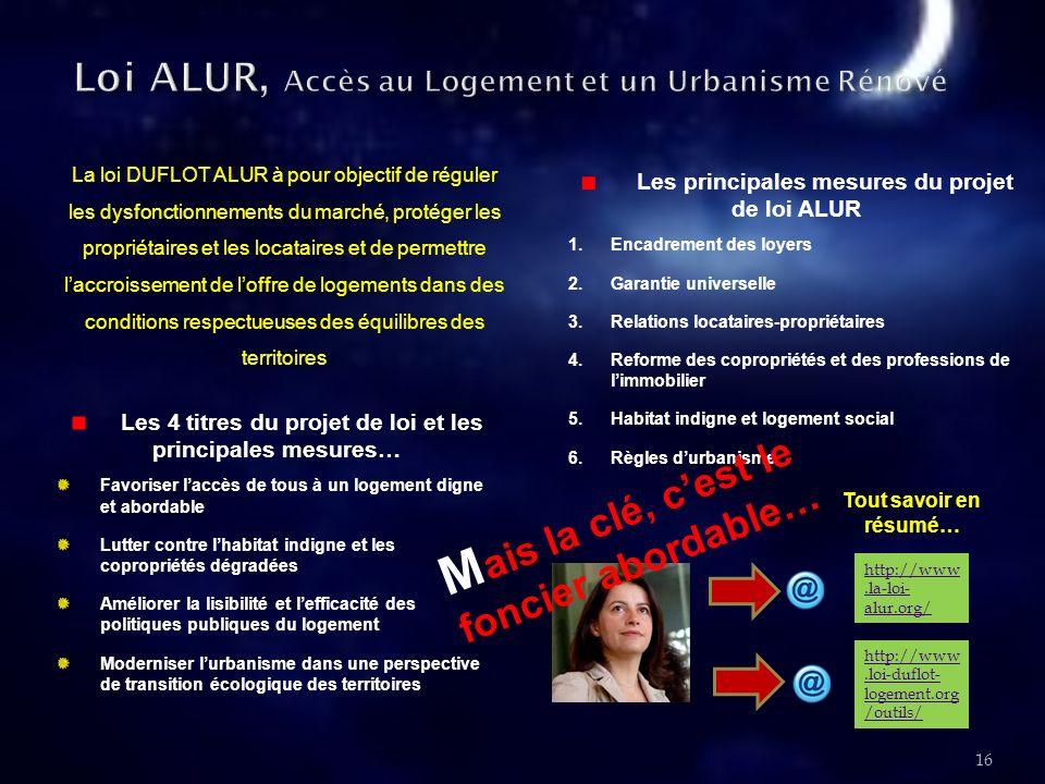 Loi ALUR, Accès au Logement et un Urbanisme Rénové