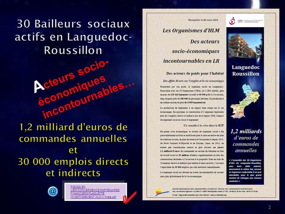 30 Bailleurs sociaux actifs en Languedoc-Roussillon