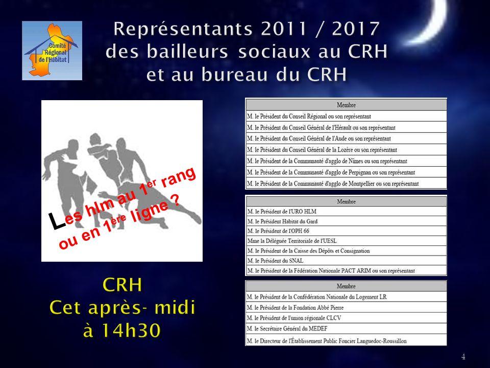 Les hlm au 1er rang ou en 1ère ligne