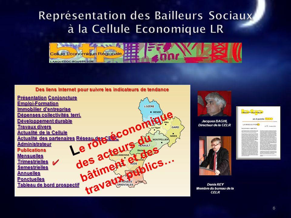 Représentation des Bailleurs Sociaux à la Cellule Economique LR