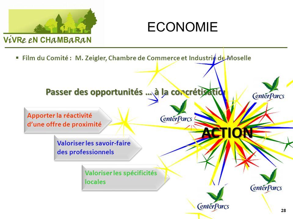 ACTION ECONOMIE Passer des opportunités … à la concrétisation