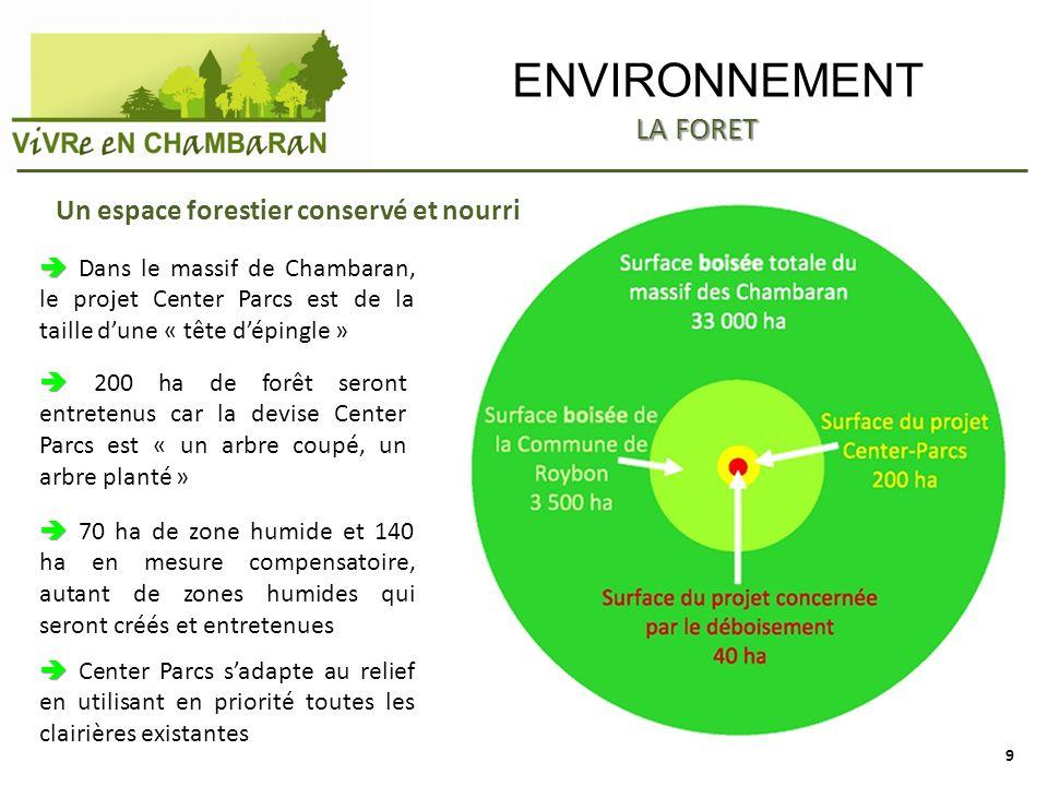 ENVIRONNEMENT LA FORET Un espace forestier conservé et nourri