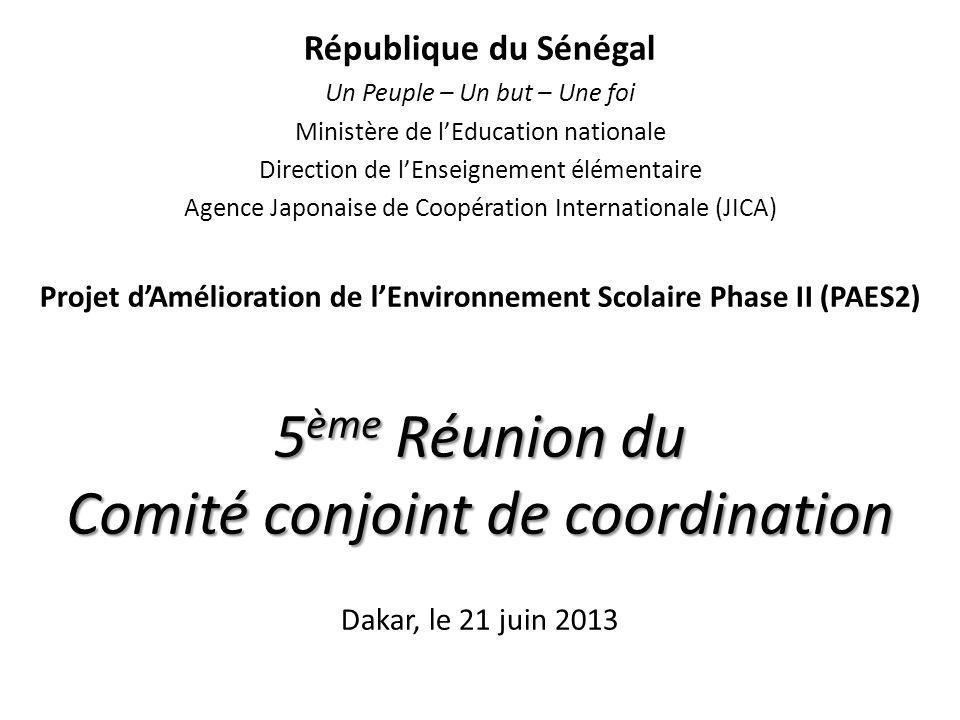 5ème Réunion du Comité conjoint de coordination