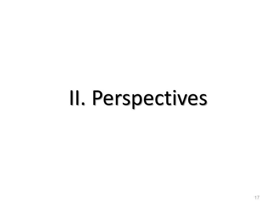 II. Perspectives
