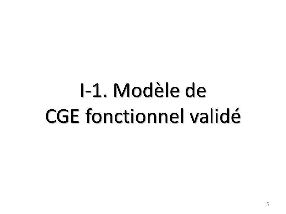 I-1. Modèle de CGE fonctionnel validé