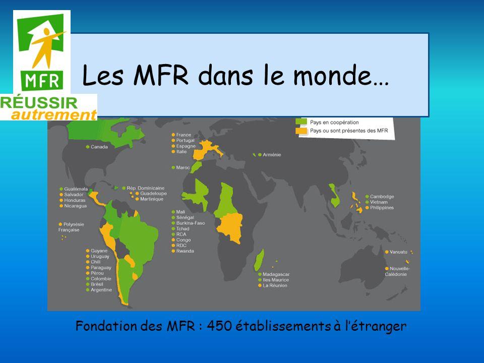 Les MFR dans le monde… Fondation des MFR : 450 établissements à l'étranger