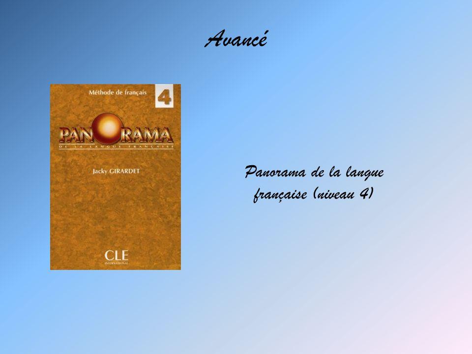 Panorama de la langue française (niveau 4)