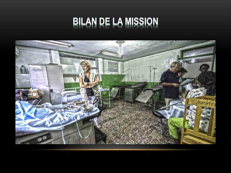 Bilan de la mission