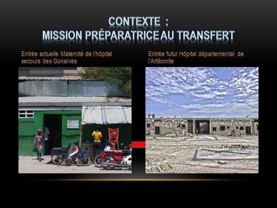 Contexte : mission préparatrice au transfert