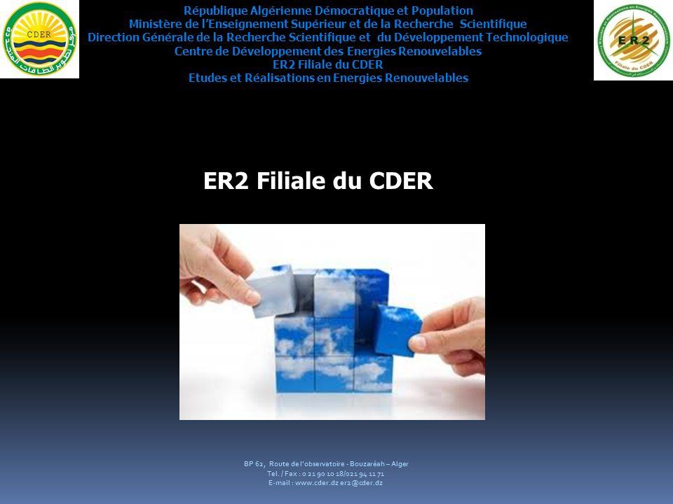 ER2 Filiale du CDER République Algérienne Démocratique et Population
