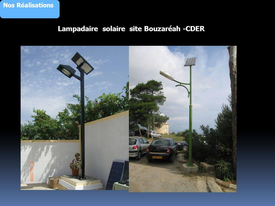Lampadaire solaire site Bouzaréah -CDER