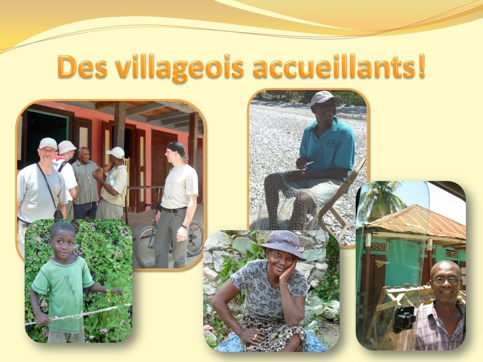 Des villageois accueillants!