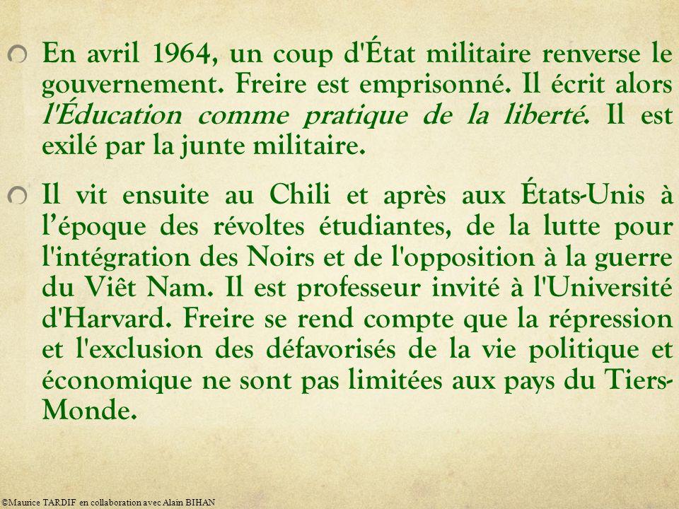 En avril 1964, un coup d État militaire renverse le gouvernement