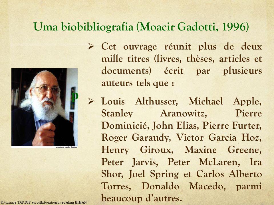 Uma biobibliografia (Moacir Gadotti, 1996)