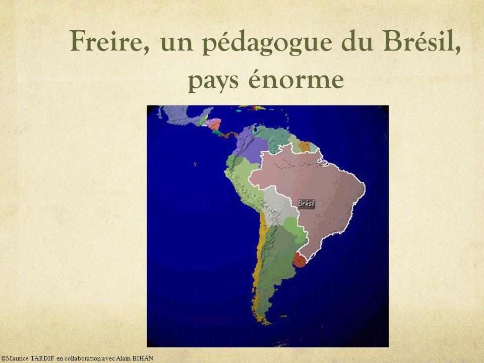 Freire, un pédagogue du Brésil, pays énorme