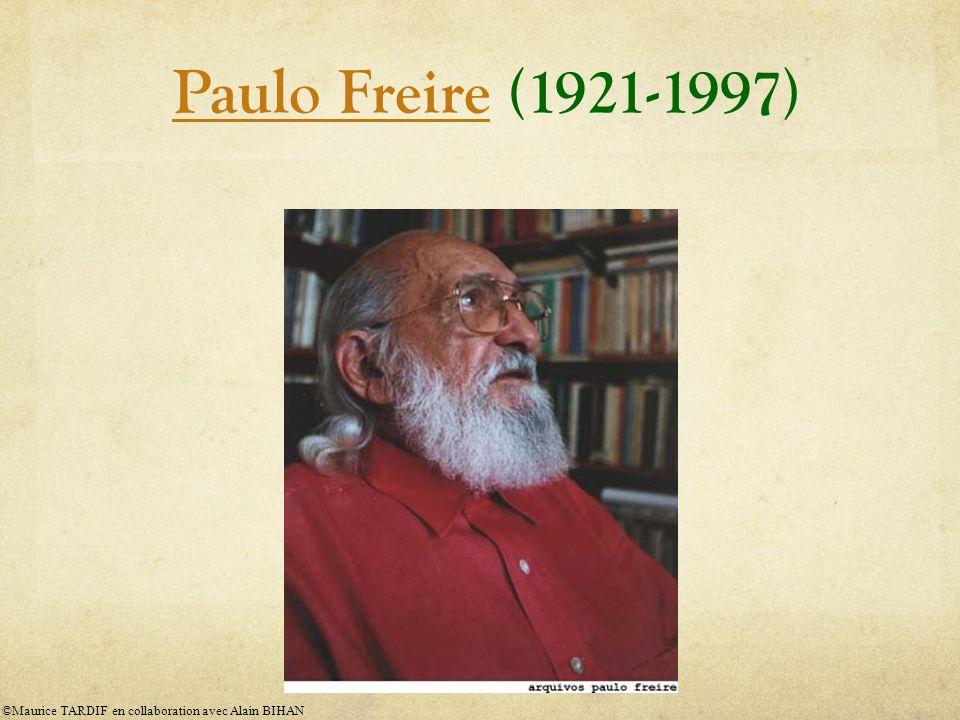 Paulo Freire (1921-1997) ©Maurice TARDIF en collaboration avec Alain BIHAN
