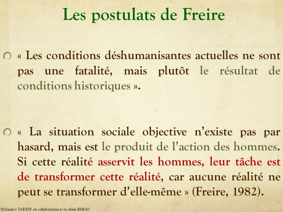 Les postulats de Freire