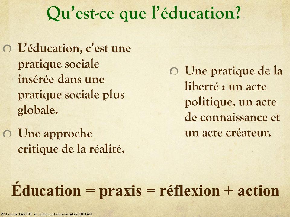 Qu'est-ce que l'éducation
