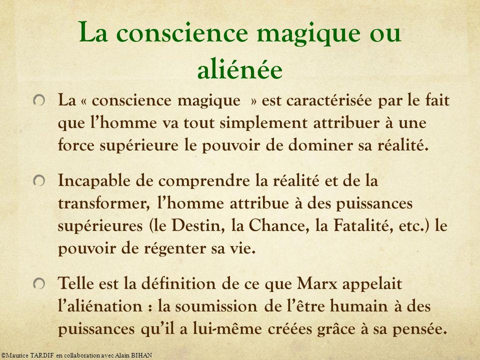 La conscience magique ou aliénée