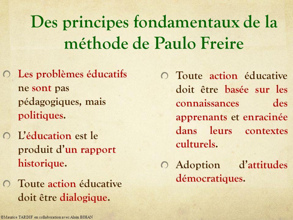 Des principes fondamentaux de la méthode de Paulo Freire