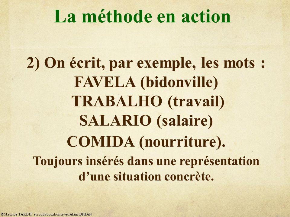La méthode en action 2) On écrit, par exemple, les mots :