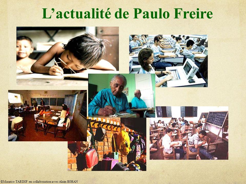 L'actualité de Paulo Freire