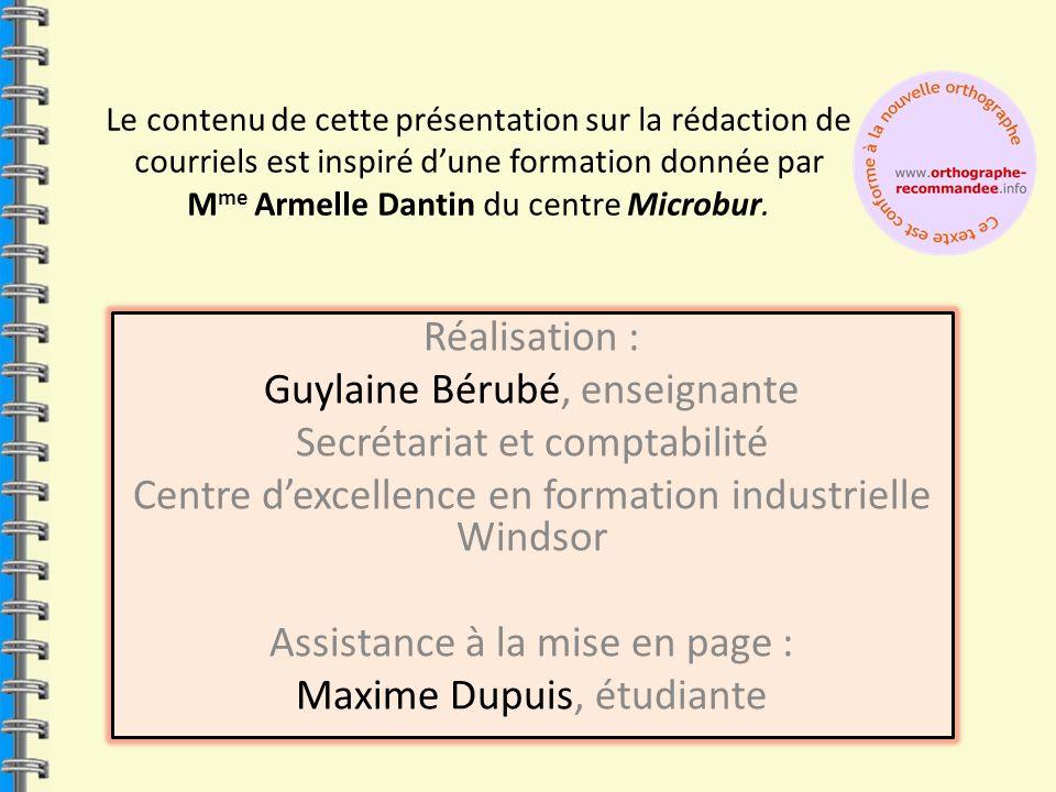 Guylaine Bérubé, enseignante Secrétariat et comptabilité