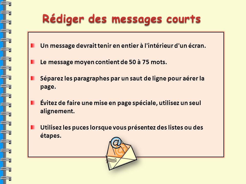 Rédiger des messages courts