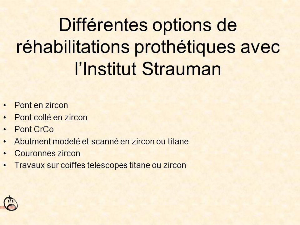 Différentes options de réhabilitations prothétiques avec l'Institut Strauman
