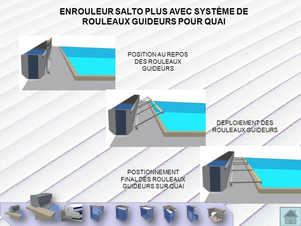 ENROULEUR SALTO PLUS AVEC SYSTÈME DE ROULEAUX GUIDEURS POUR QUAI