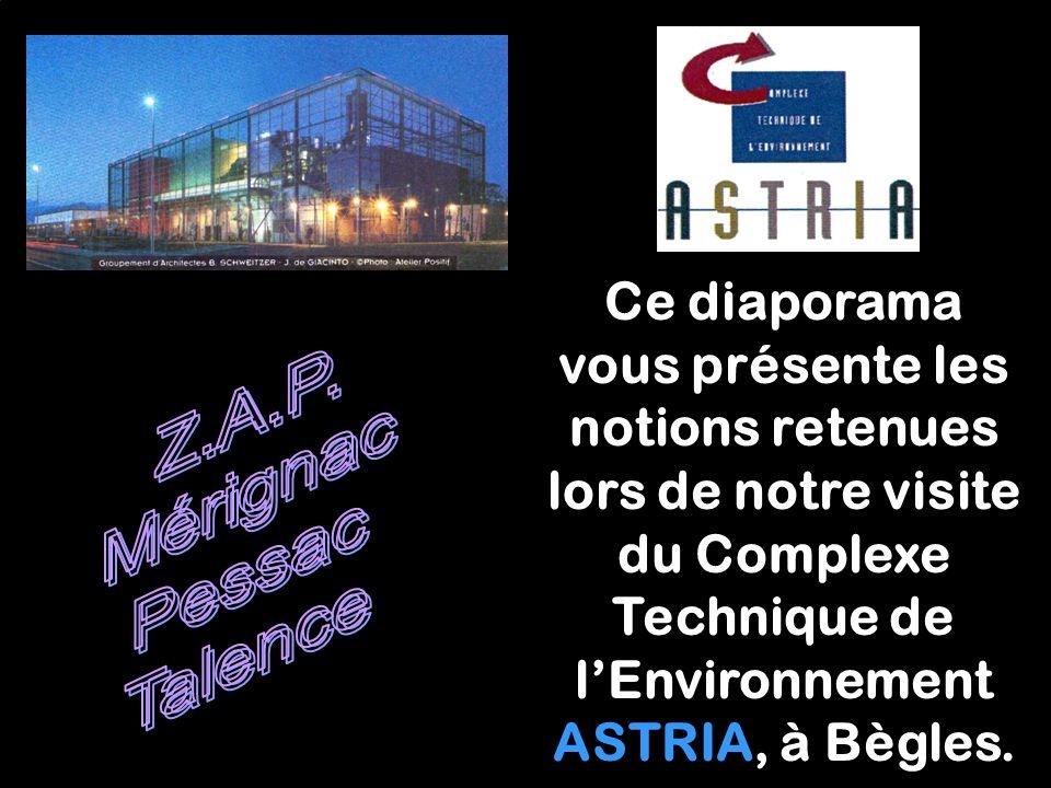 Ce diaporama vous présente les notions retenues lors de notre visite du Complexe Technique de l'Environnement ASTRIA, à Bègles.