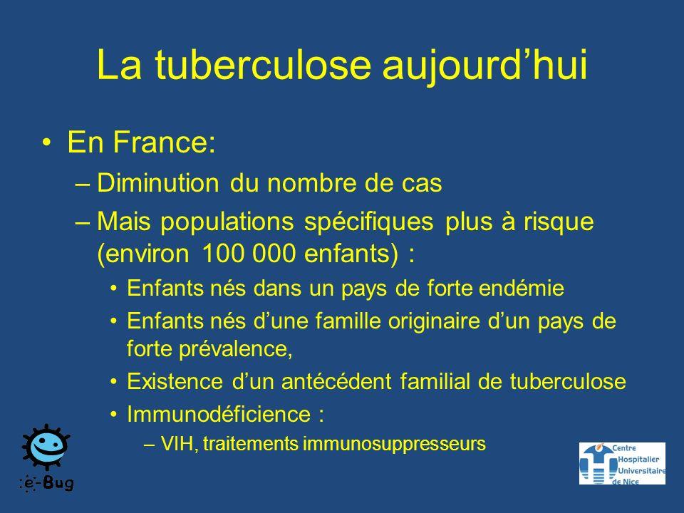 La tuberculose aujourd'hui