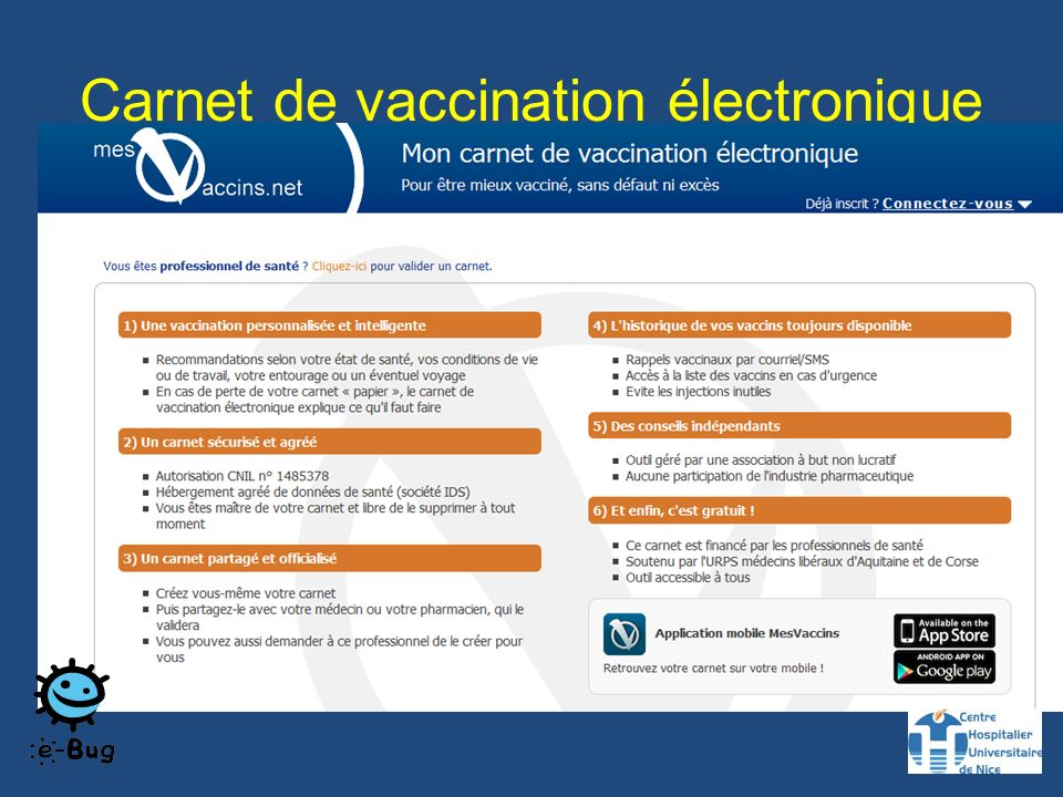Carnet de vaccination électronique