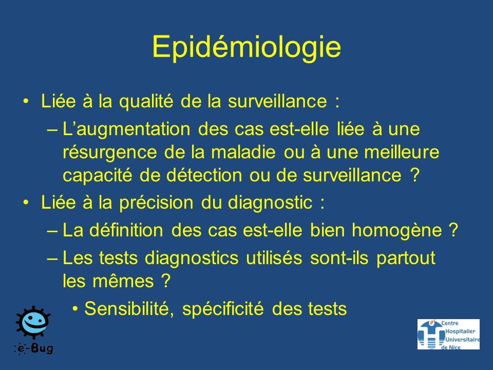 Epidémiologie Liée à la qualité de la surveillance :