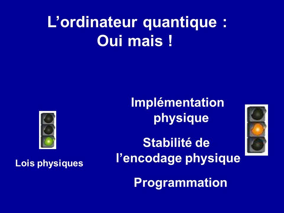 L'ordinateur quantique :