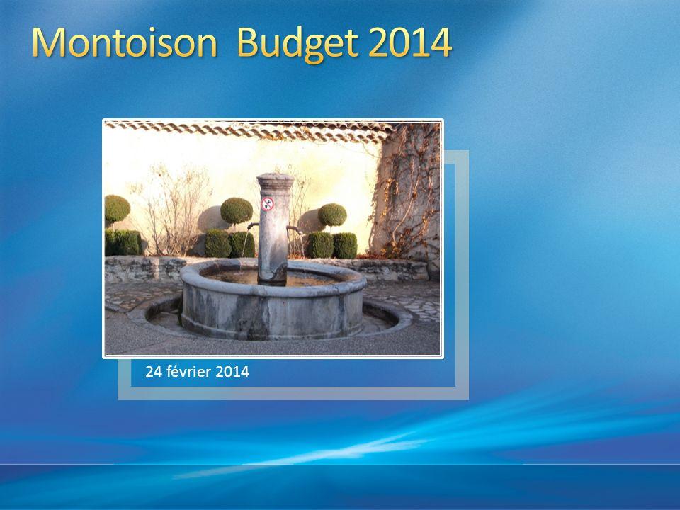 Montoison Budget 2014 24 février 2014