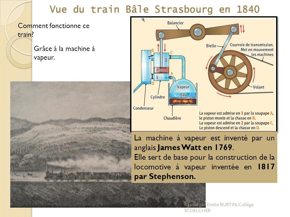 Vue du train Bâle Strasbourg en 1840
