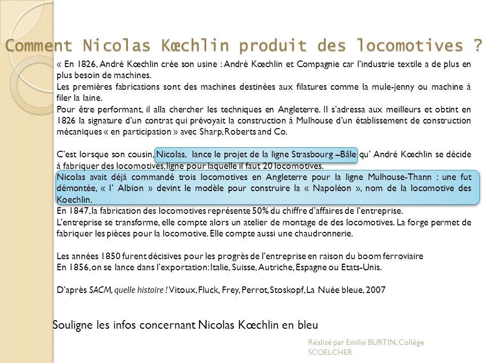Comment Nicolas Kœchlin produit des locomotives
